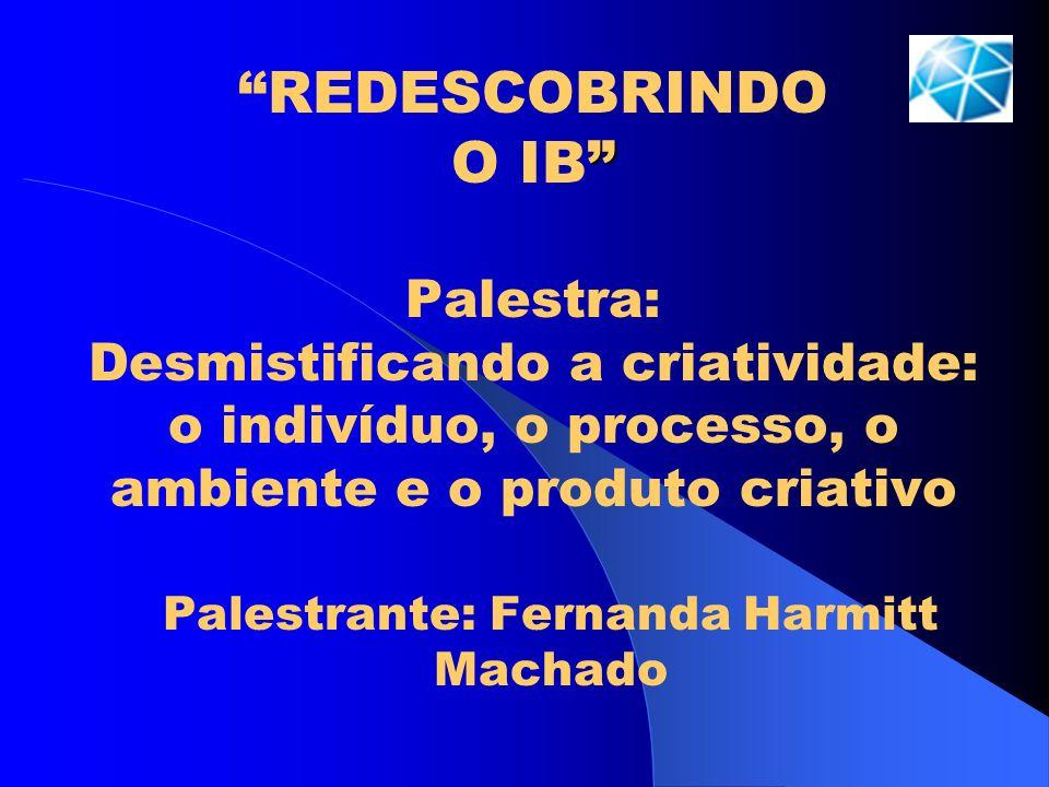 Palestrante: Fernanda Harmitt Machado