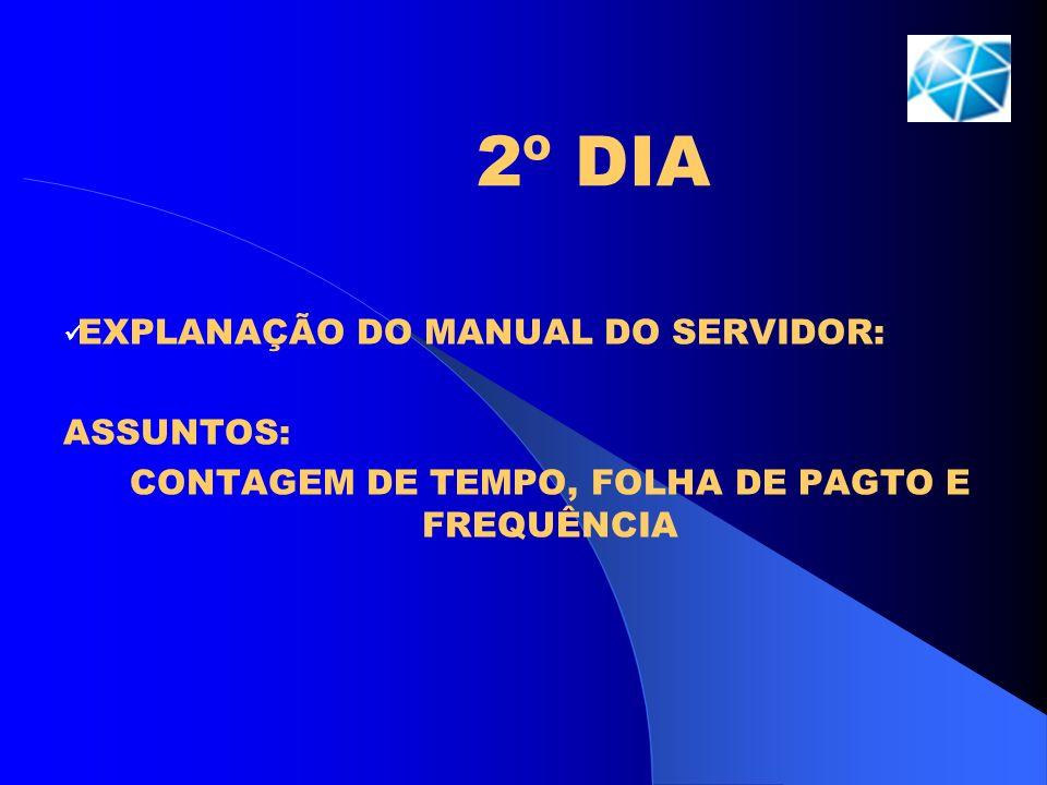 CONTAGEM DE TEMPO, FOLHA DE PAGTO E FREQUÊNCIA