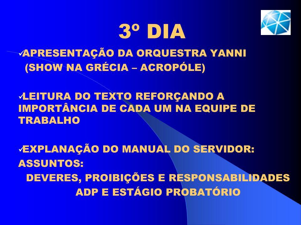 3º DIA APRESENTAÇÃO DA ORQUESTRA YANNI (SHOW NA GRÉCIA – ACROPÓLE)
