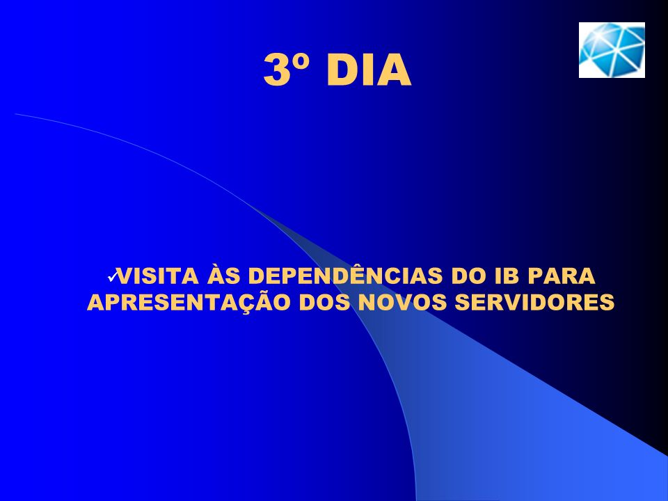 VISITA ÀS DEPENDÊNCIAS DO IB PARA APRESENTAÇÃO DOS NOVOS SERVIDORES