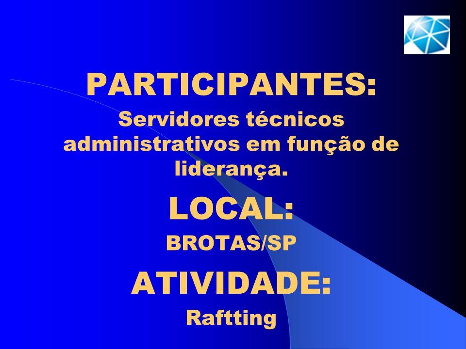 Servidores técnicos administrativos em função de liderança.