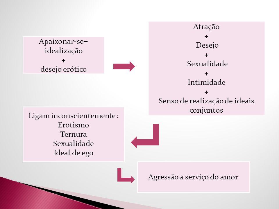 Senso de realização de ideais conjunt0s Apaixonar-se= idealização +