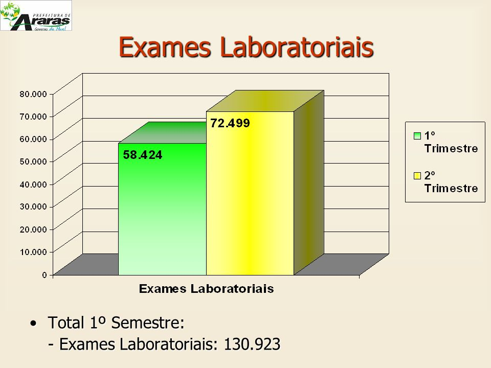 Exames Laboratoriais Total 1º Semestre: