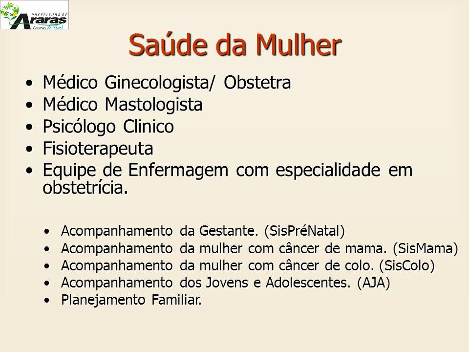 Saúde da Mulher Médico Ginecologista/ Obstetra Médico Mastologista