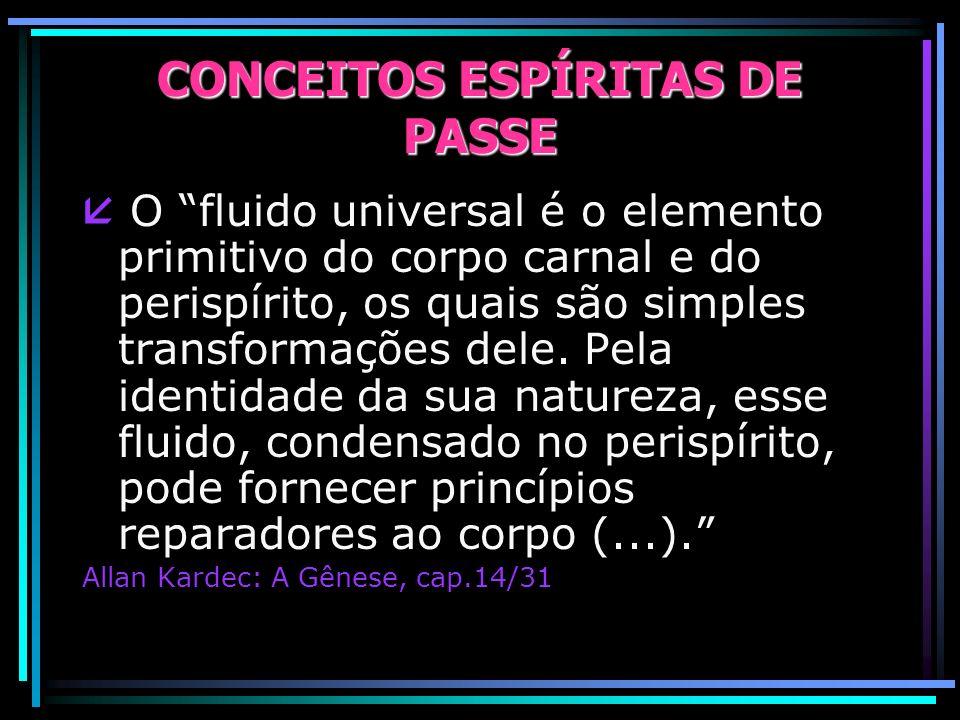CONCEITOS ESPÍRITAS DE PASSE