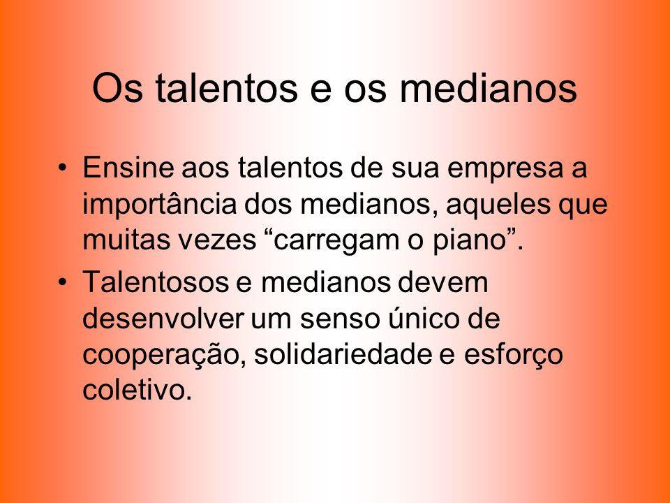 Os talentos e os medianos