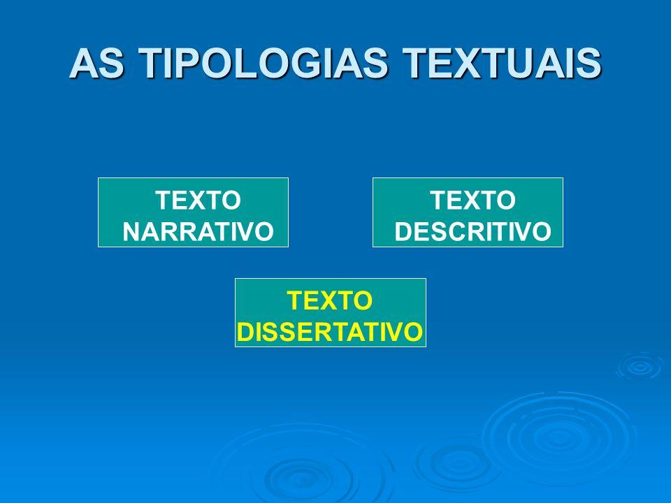 AS TIPOLOGIAS TEXTUAIS