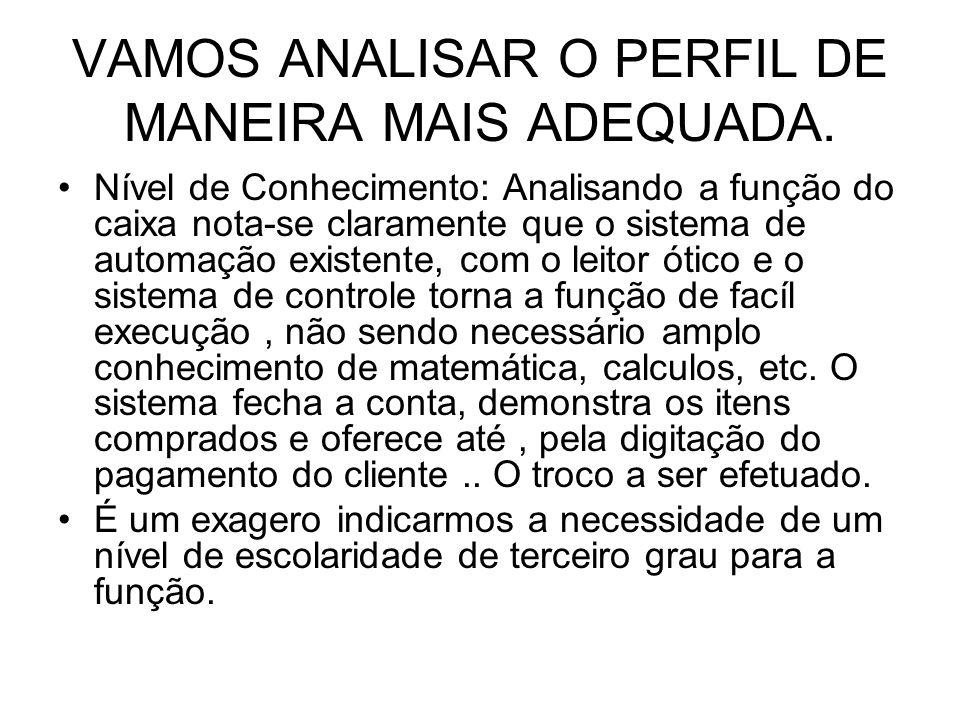 VAMOS ANALISAR O PERFIL DE MANEIRA MAIS ADEQUADA.