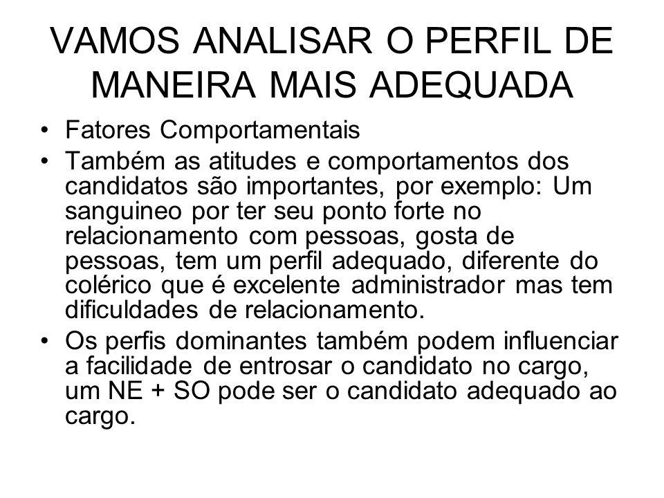 VAMOS ANALISAR O PERFIL DE MANEIRA MAIS ADEQUADA