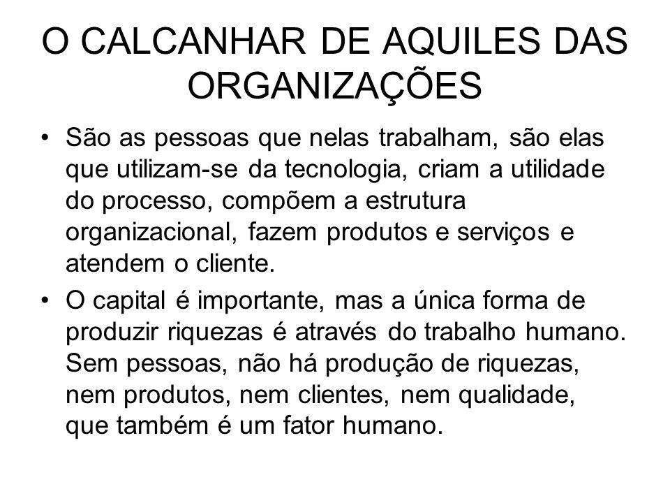 O CALCANHAR DE AQUILES DAS ORGANIZAÇÕES