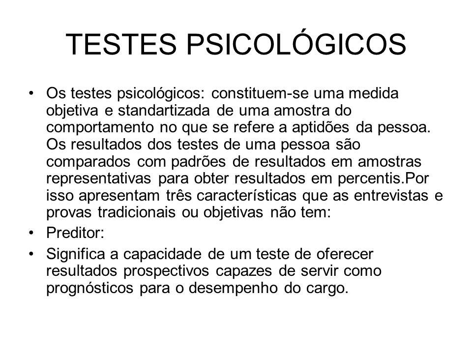 TESTES PSICOLÓGICOS