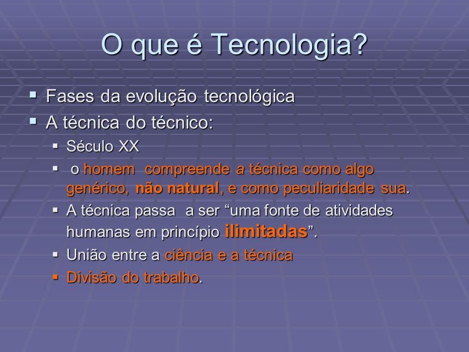 O que é Tecnologia Fases da evolução tecnológica