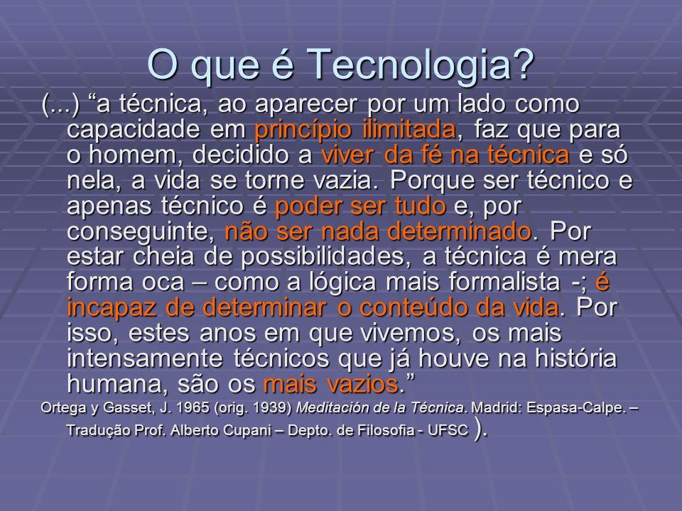 O que é Tecnologia