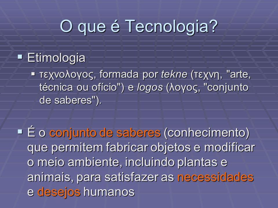 O que é Tecnologia Etimologia