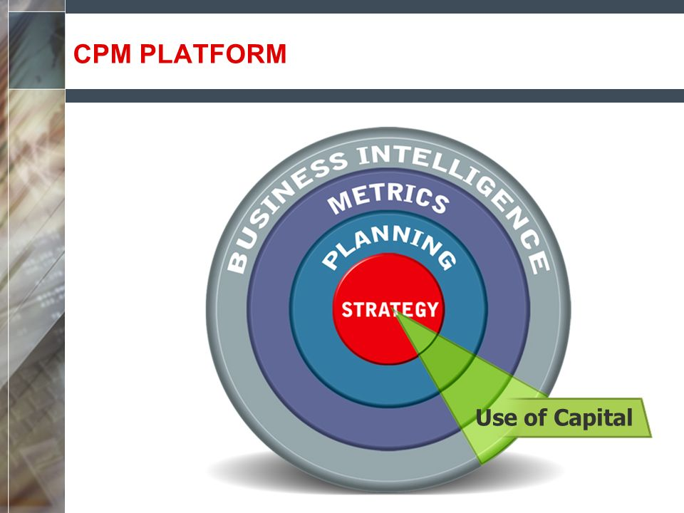 CPM PLATFORM Use of Capital