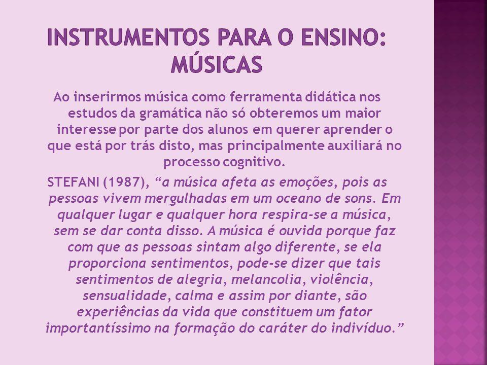 Instrumentos para o Ensino: Músicas
