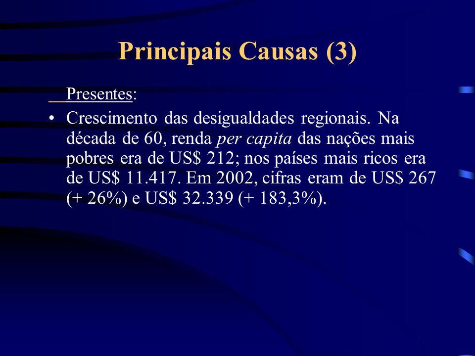 Principais Causas (3) Presentes: