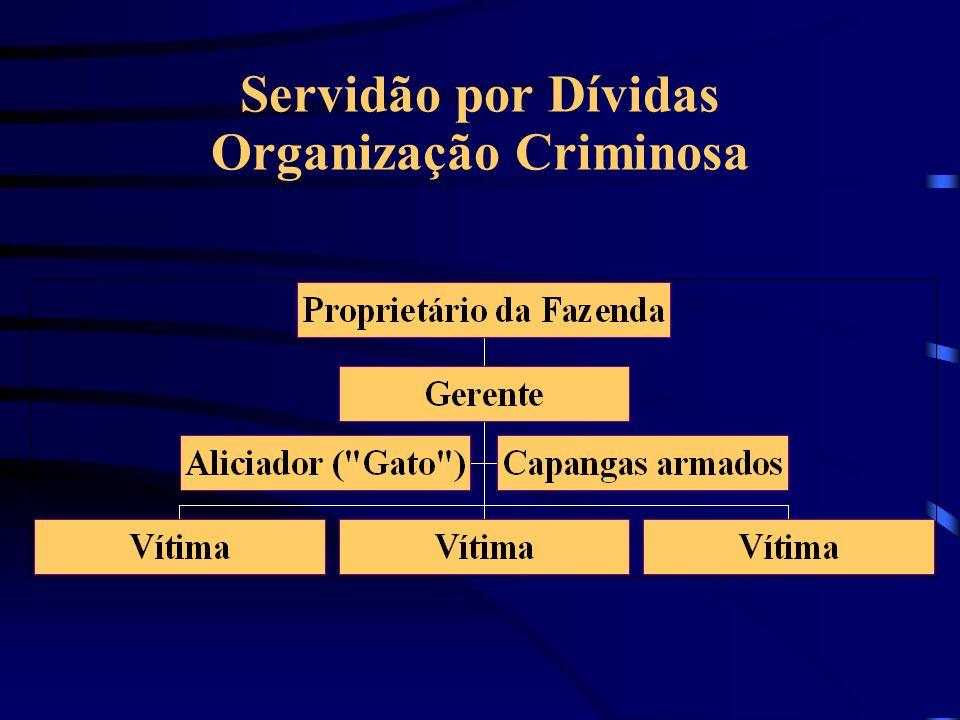 Servidão por Dívidas Organização Criminosa