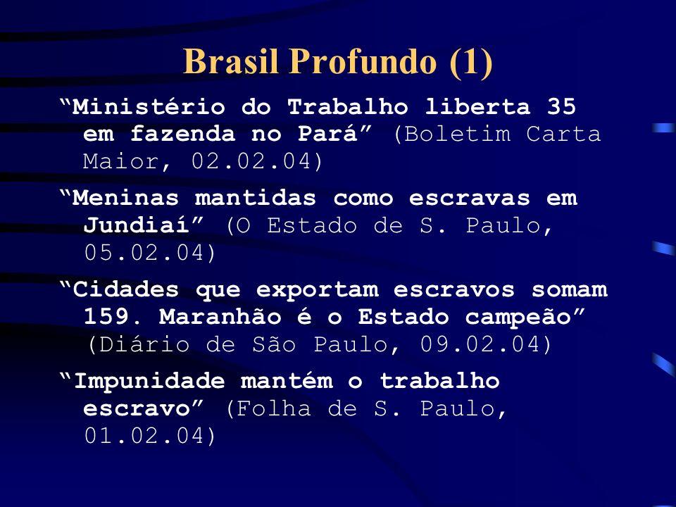 Brasil Profundo (1) Ministério do Trabalho liberta 35 em fazenda no Pará (Boletim Carta Maior, 02.02.04)