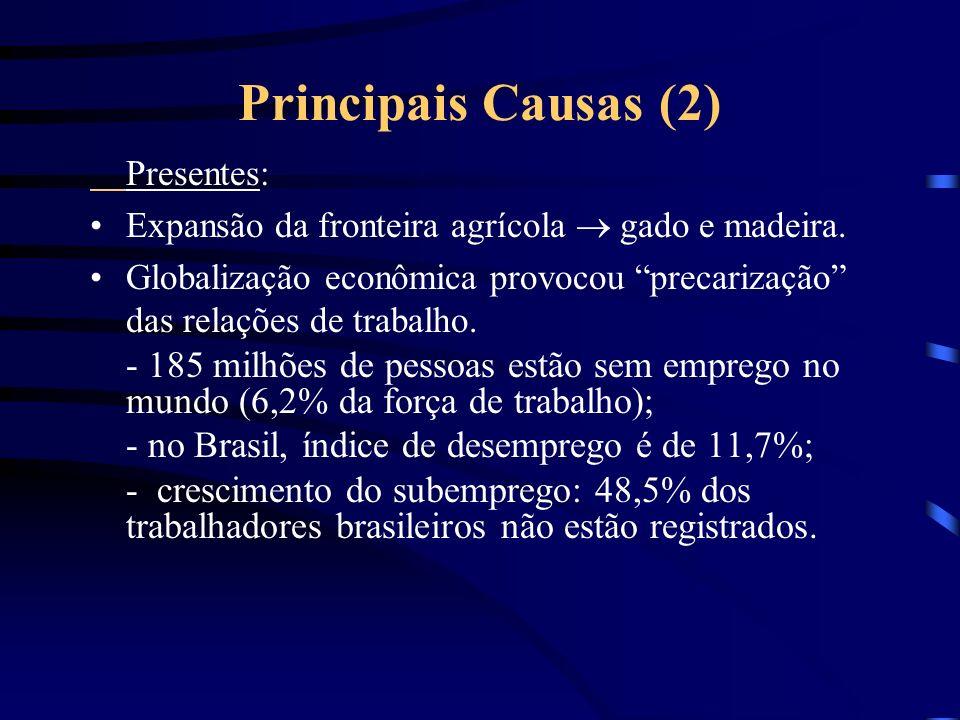 Principais Causas (2) Presentes: