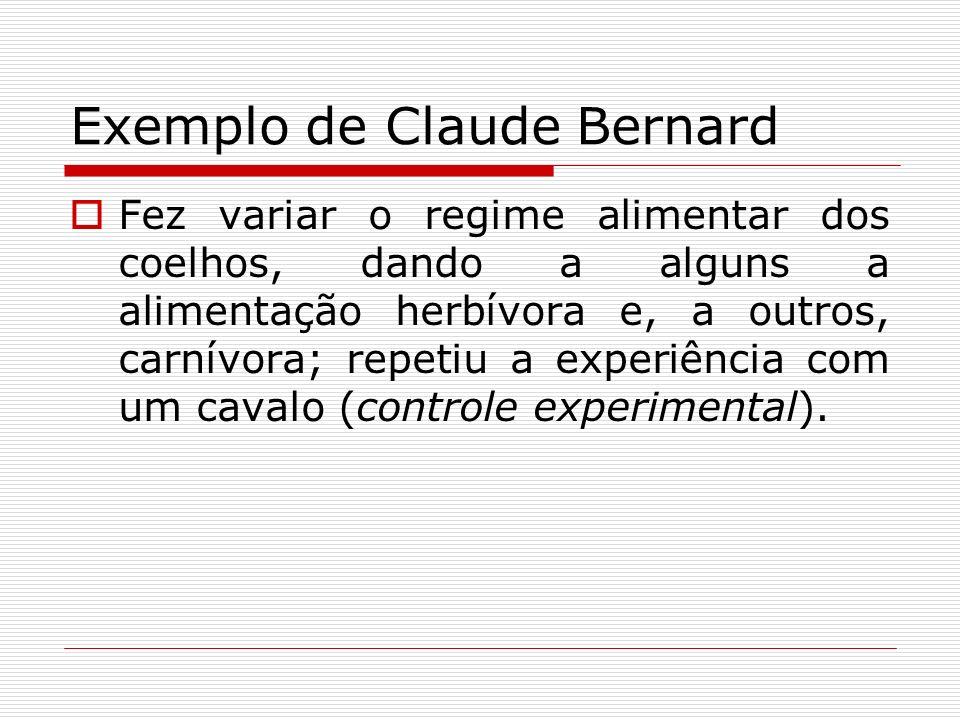 Exemplo de Claude Bernard