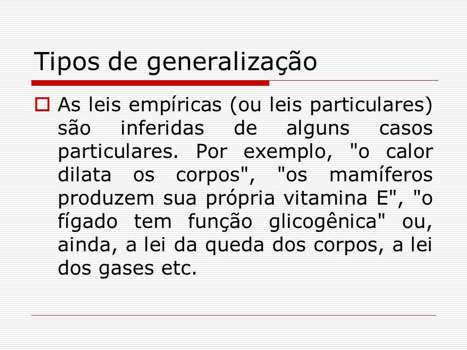 Tipos de generalização