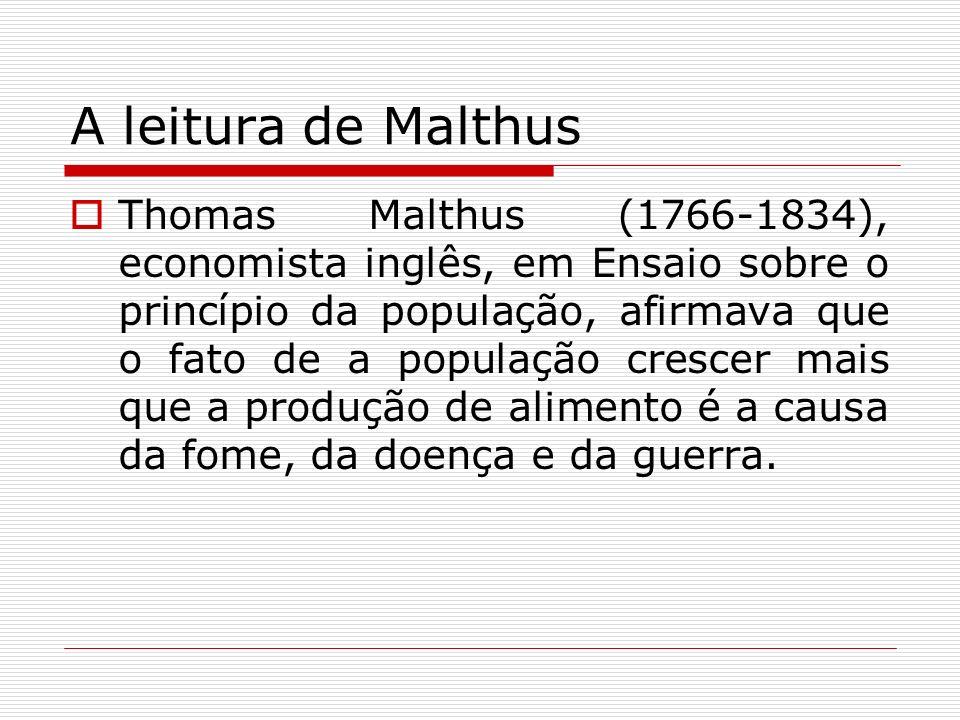 A leitura de Malthus