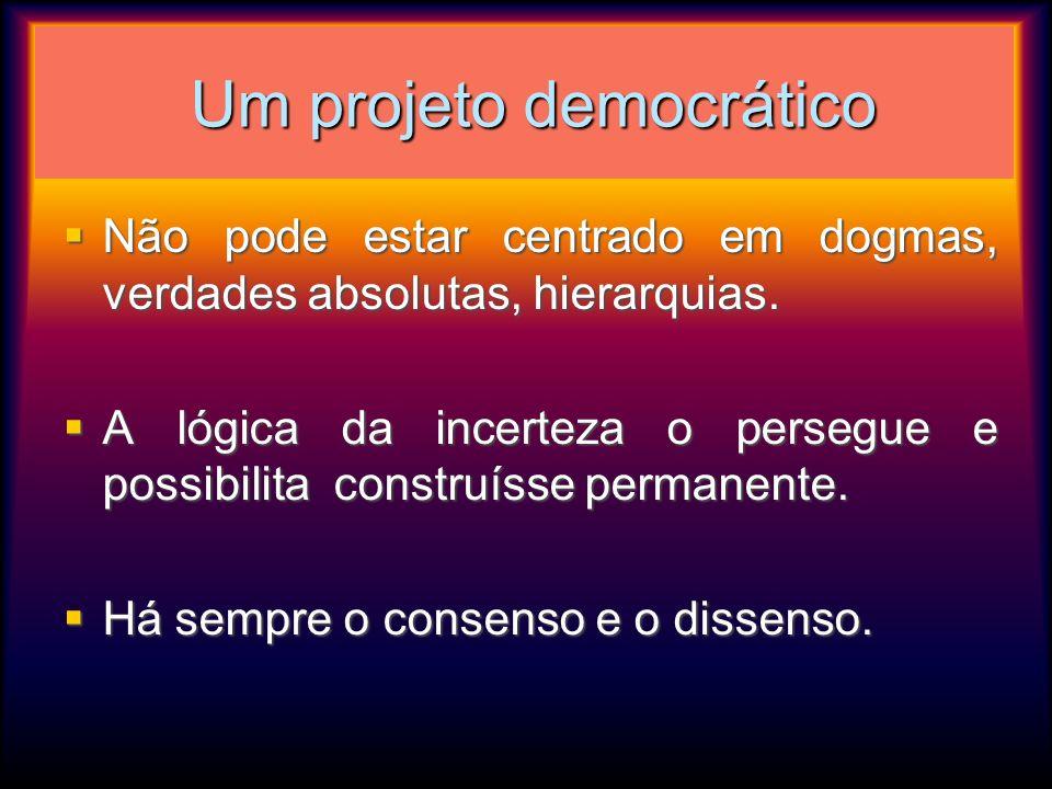 Um projeto democrático
