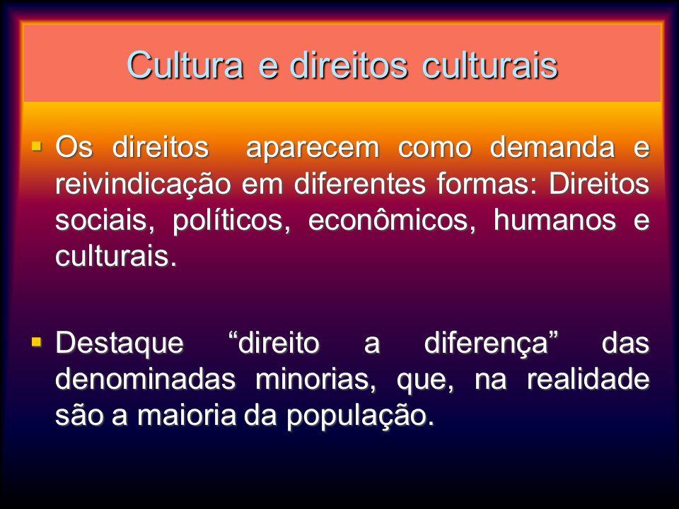 Cultura e direitos culturais