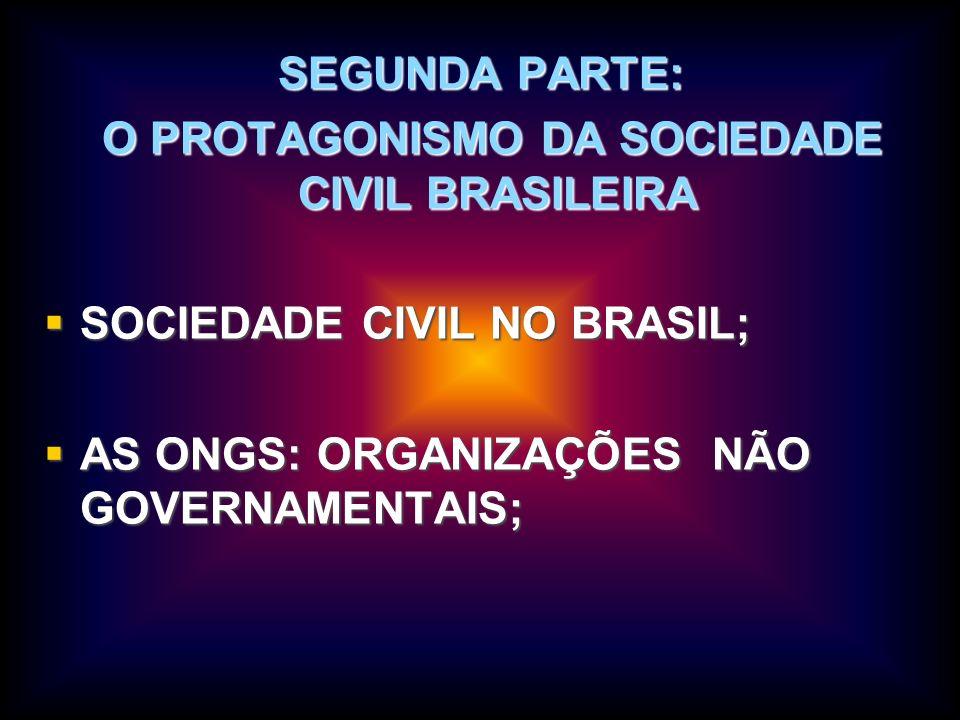 O PROTAGONISMO DA SOCIEDADE CIVIL BRASILEIRA