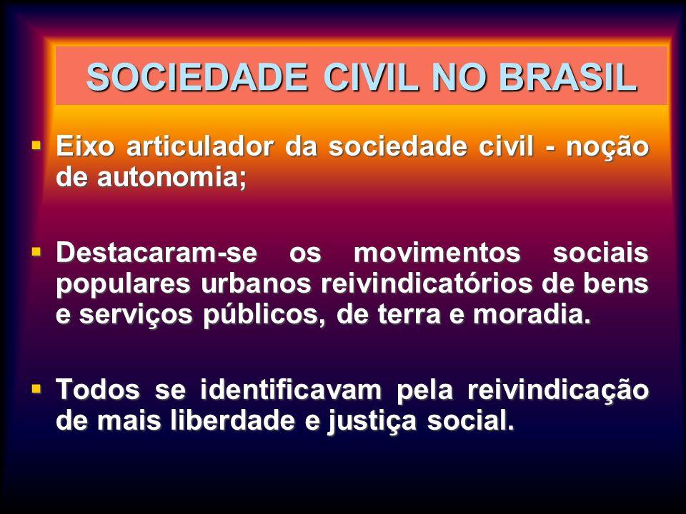 SOCIEDADE CIVIL NO BRASIL