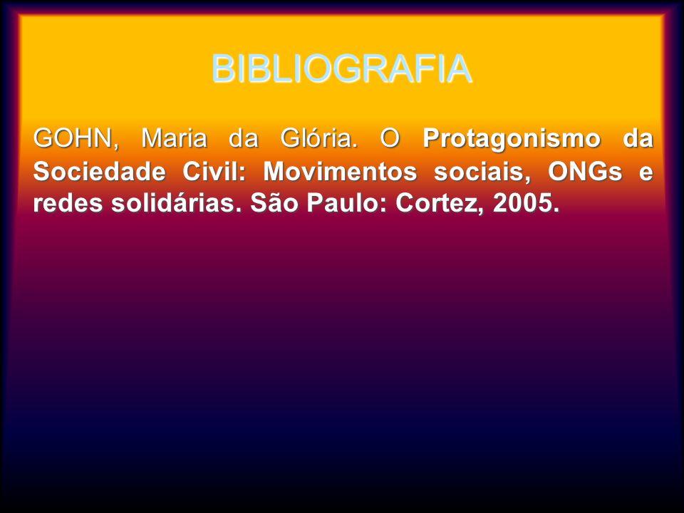 BIBLIOGRAFIAGOHN, Maria da Glória.