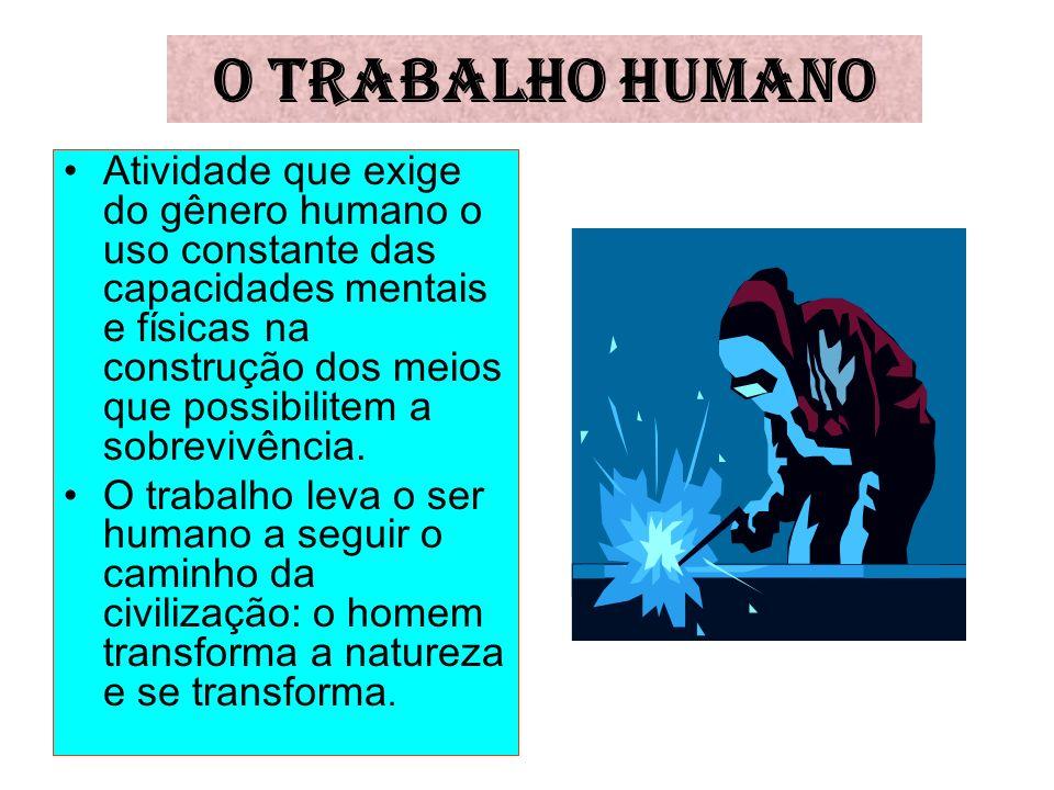 O TRABALHO HUMANO