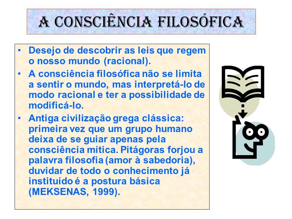 A CONSCIÊNCIA FILOSÓFICA