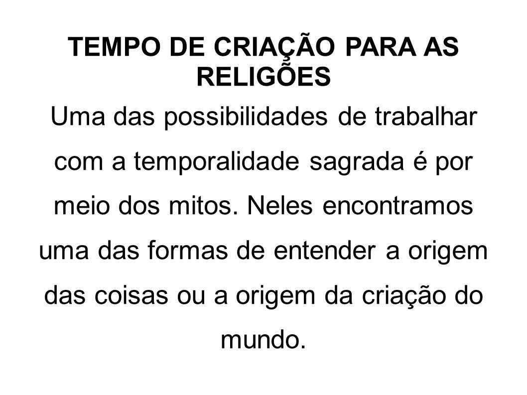 TEMPO DE CRIAÇÃO PARA AS RELIGÕES