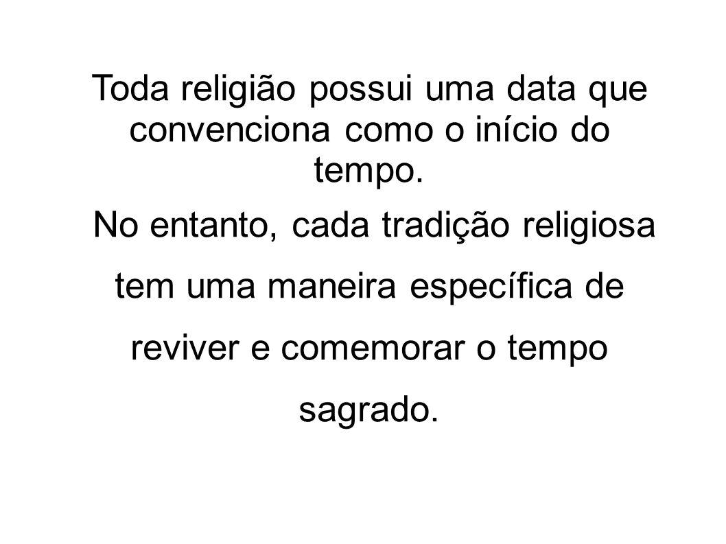 Toda religião possui uma data que convenciona como o início do tempo.