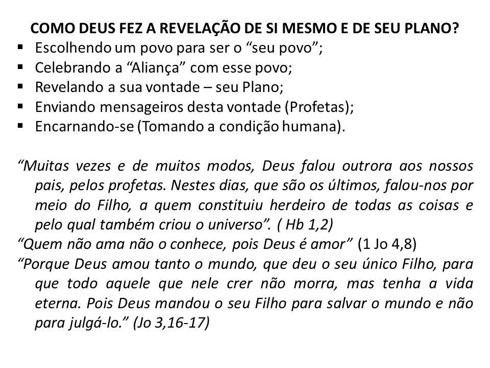 COMO DEUS FEZ A REVELAÇÃO DE SI MESMO E DE SEU PLANO