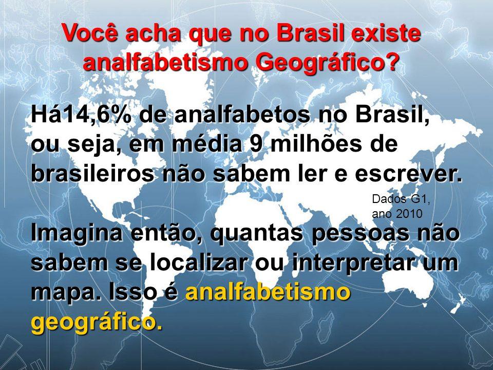 Você acha que no Brasil existe analfabetismo Geográfico