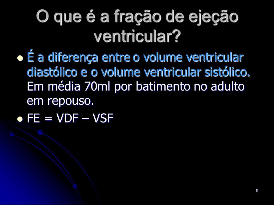 O que é a fração de ejeção ventricular