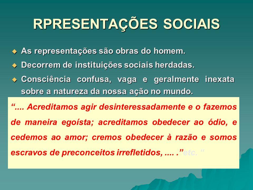 RPRESENTAÇÕES SOCIAIS
