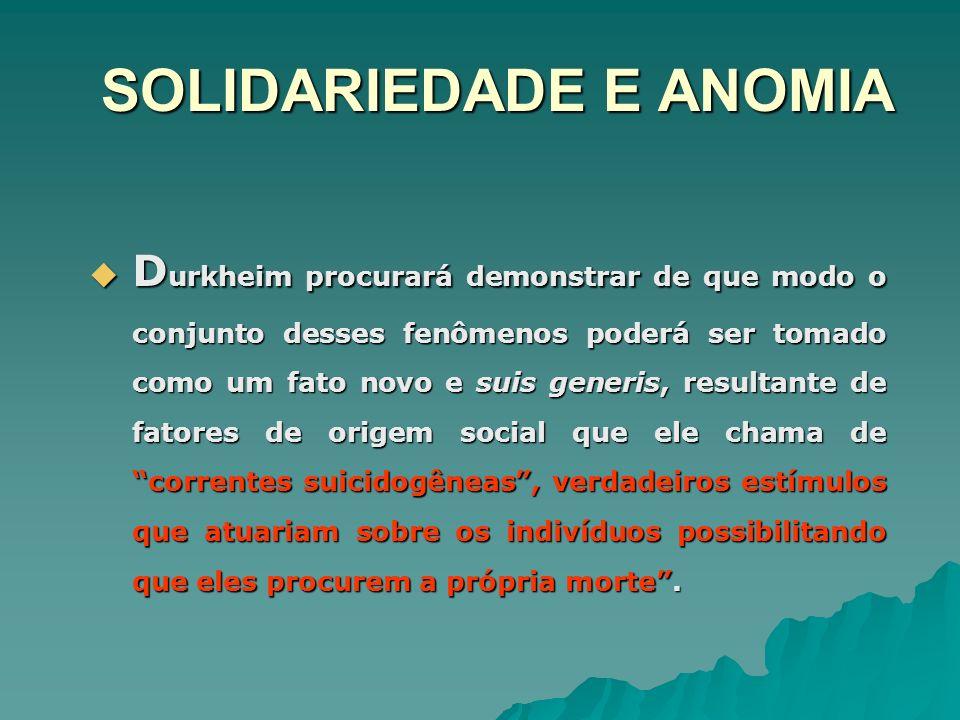 SOLIDARIEDADE E ANOMIA