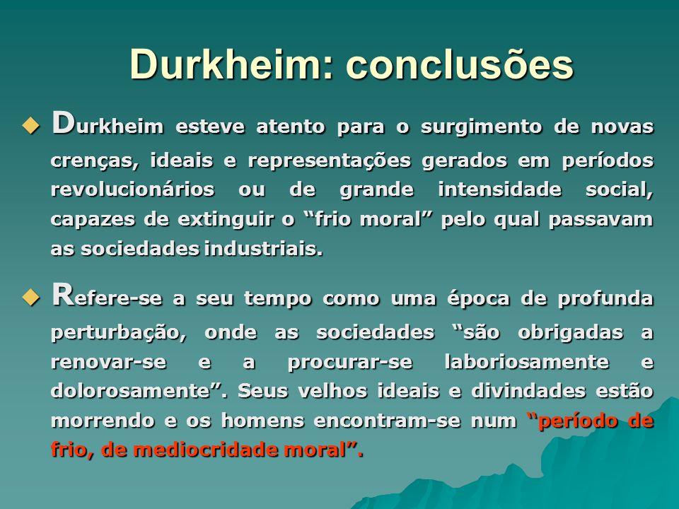 Durkheim: conclusões