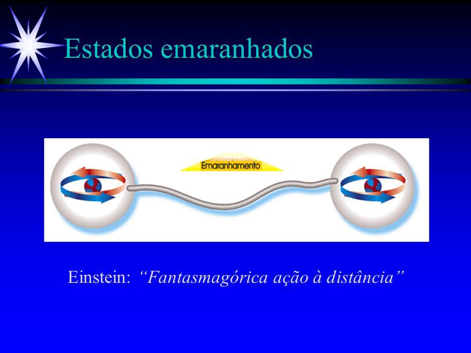 Estados emaranhados Einstein: Fantasmagórica ação à distância
