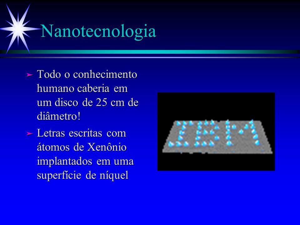 Nanotecnologia Todo o conhecimento humano caberia em um disco de 25 cm de diâmetro!