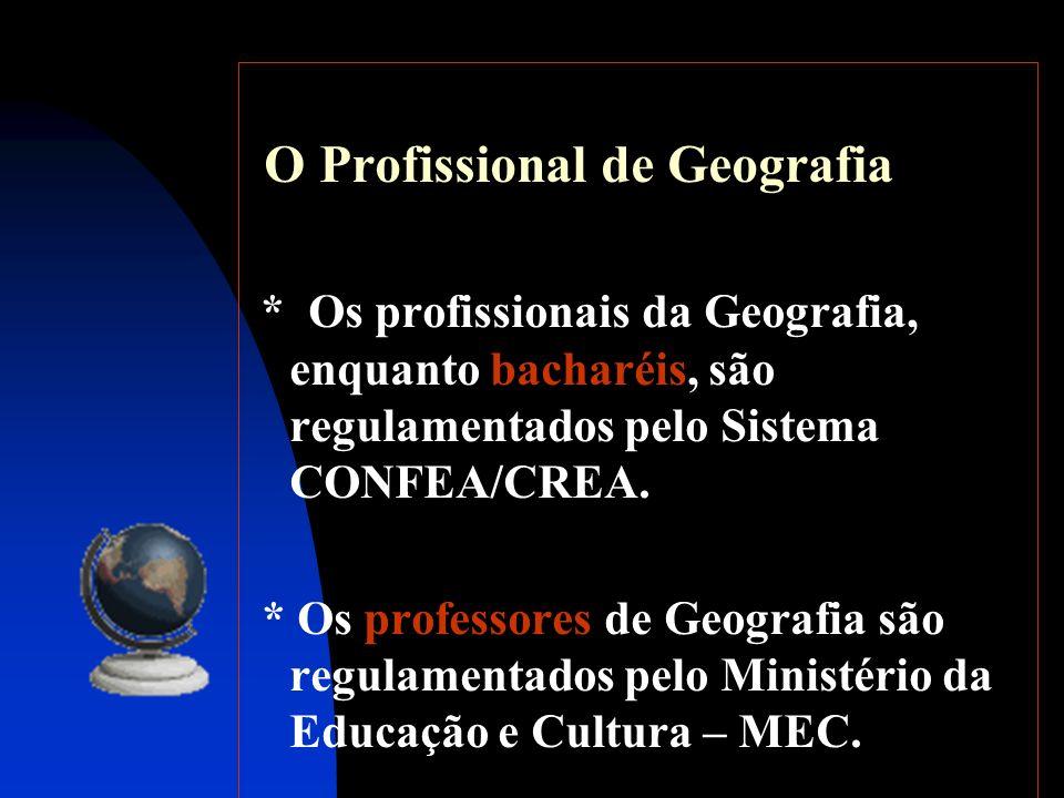 O Profissional de Geografia