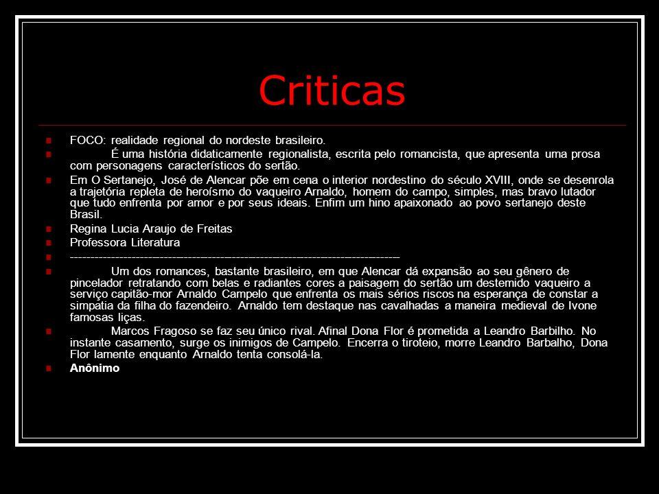 Criticas FOCO: realidade regional do nordeste brasileiro.