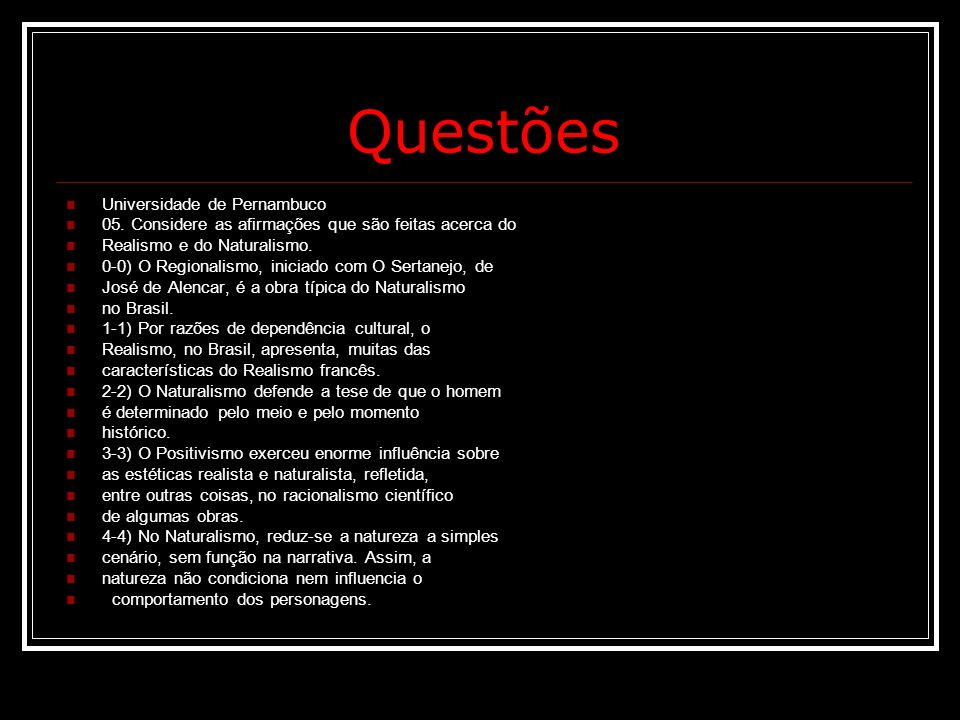 Questões Universidade de Pernambuco