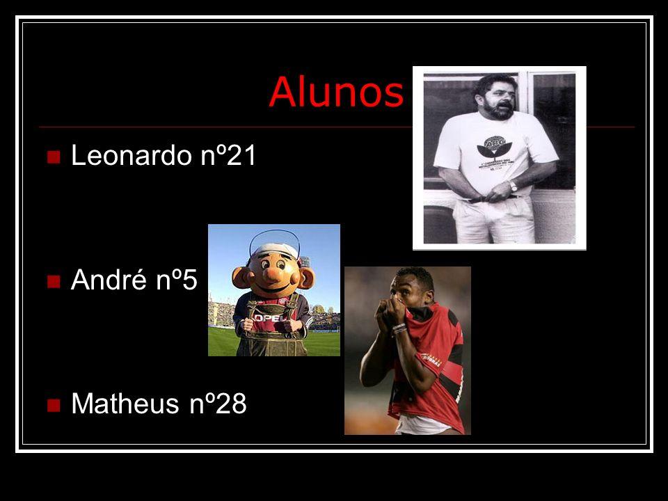 Alunos Leonardo nº21 André nº5 Matheus nº28