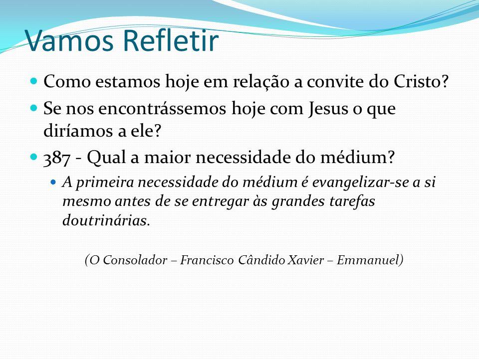 Vamos Refletir Como estamos hoje em relação a convite do Cristo