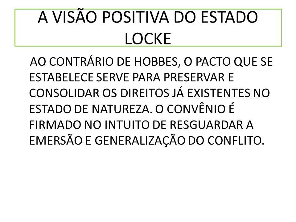 A VISÃO POSITIVA DO ESTADO LOCKE